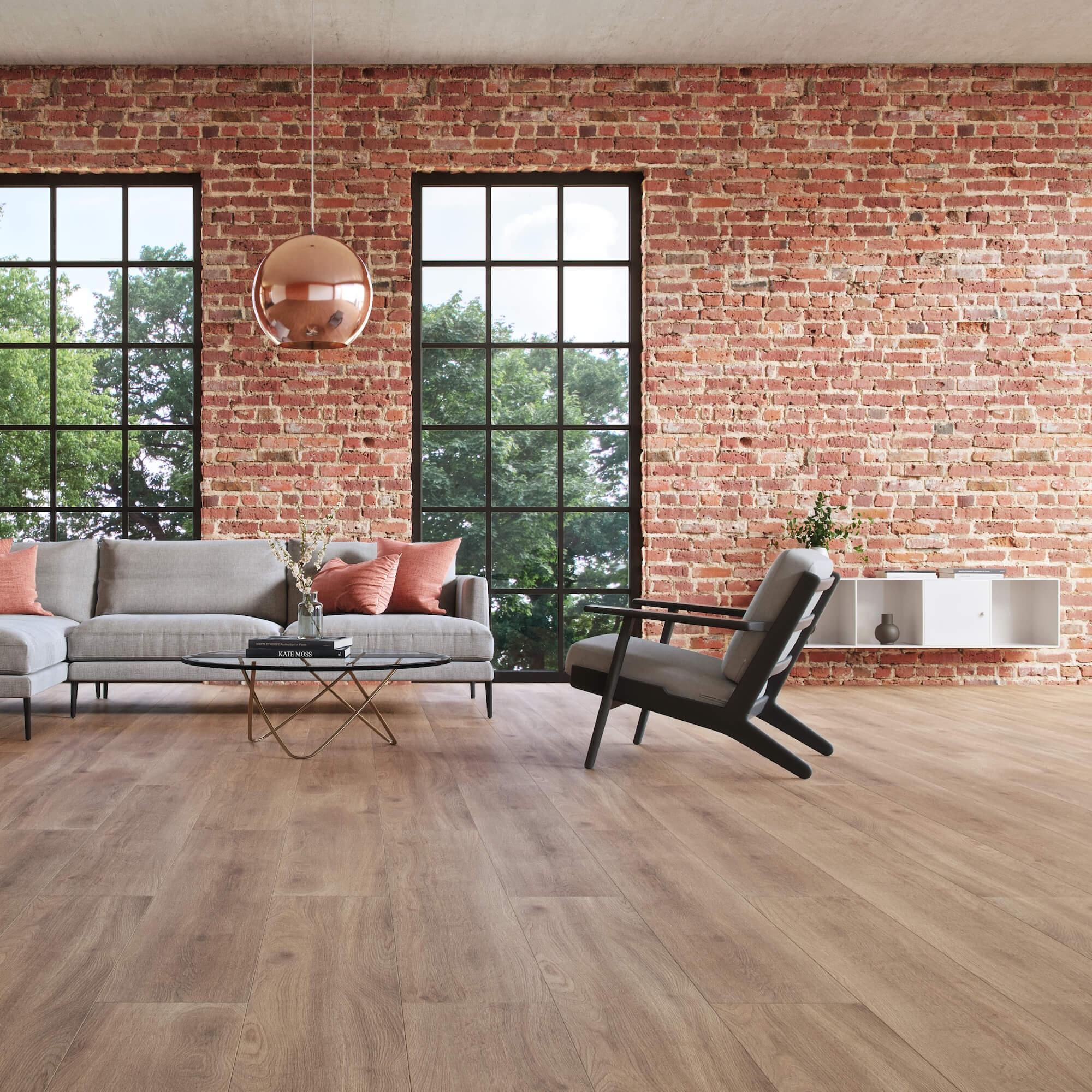 Wohnzimmer mit Laminat Fußbodenbelag