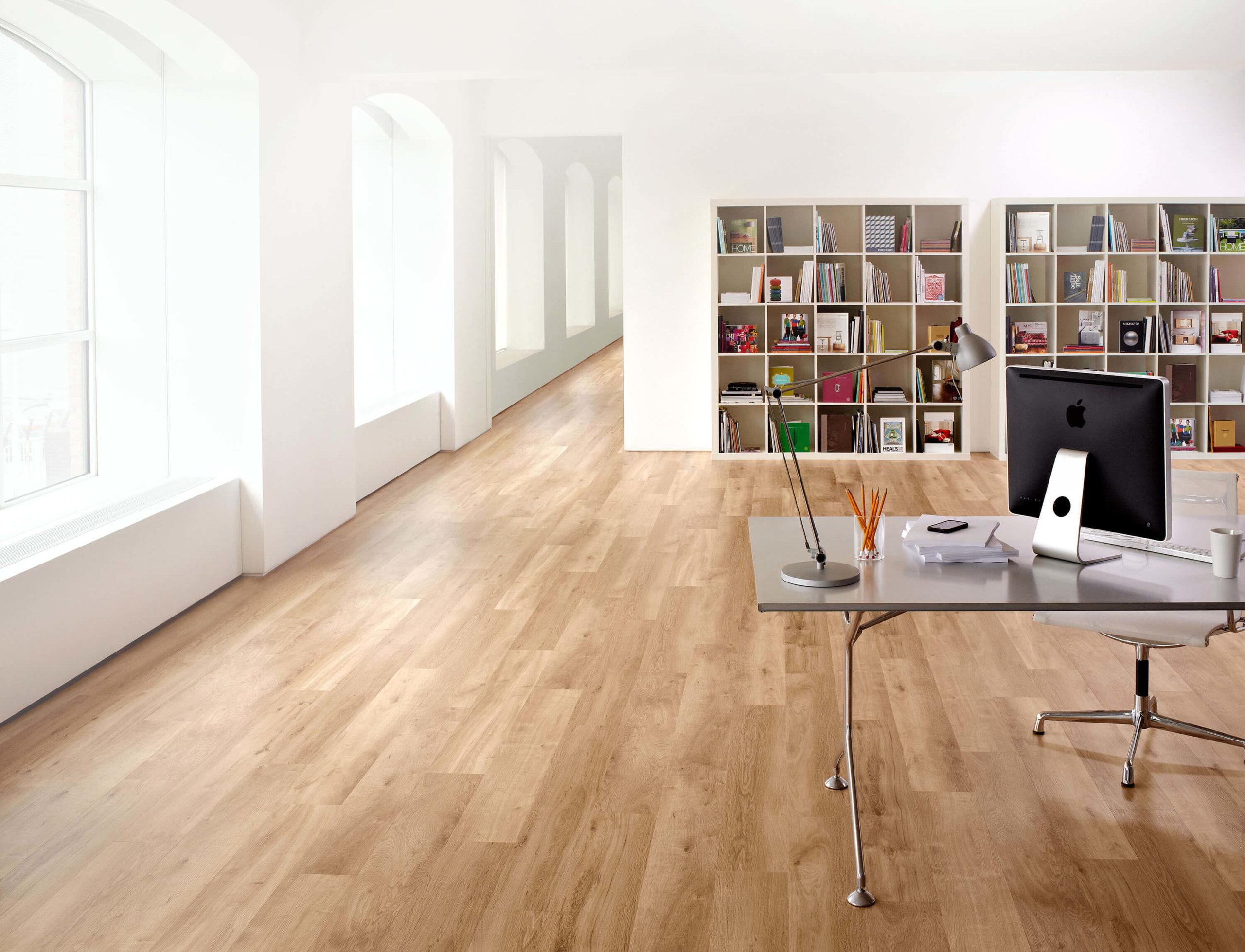 Büro mit Designbelag Vinyl Fußbodenbelag